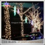 Luz feericamente da corda do diodo emissor de luz do feriado ao ar livre do Natal da decoração do partido da cintilação