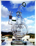 Hb-K50 Rokende Waterpijp van het Glas van de Hals Perco van de recycleermachine de Gealigneerde Tricyclic DwarsVorm Gebogen