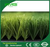 Qualidade agradável da grama artificial para o futebol