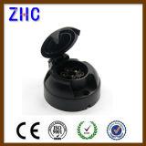 El adaptador de la corriente eléctrica impermeabiliza el enchufe y el socket europeos del acoplado del adaptador de 7 Pin
