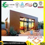 Casa pré-fabricada do contentor do telhado liso do novo conceito