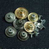 ジーンズのジャケットのめっきの布ボタンのためのカスタム金属
