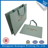 Golden Logo를 가진 녹색 Color Printed Paper Shopping Bag