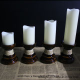 Wax sans flammes Tealight Holder Candlesticks avec Battery Candle