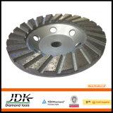 Roue de base en aluminium de meulage de Turbo de roue de cuvette de diamant pour le granit