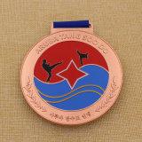 Medallón de encargo del karate de la medalla del metal de la fuente de la fábrica para la competencia del karate