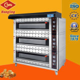 3 couche, 12 Pan empilable Gas Four, four à pizza (CE) Bakery Equipment