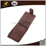 Kundenspezifischer schwarzer Geschäfts-echtes Leder-Kreditkarte-Halter