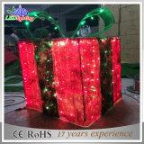 Luz do feriado do diodo emissor de luz das caixas de presente do motivo da decoração 3D do Natal