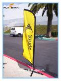 bandiera di volo di stampa del lato del doppio della vetroresina di mostra di 2.8m/bandierina della piuma
