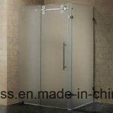glace de salle de bains durcie par 12mm de 6mm 8mm 10mm avec la fente précise, découpage, trou