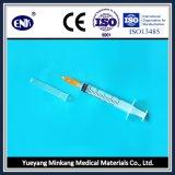 의학 처분할 수 있는 주사통은, 바늘 (2.5ml)와 더불어, Ce&ISO와 더불어 Luer 미끄러짐, 승인했다