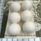 Billes de dessiccateur de feutre de laines de la sortie d'usine de qualité 100% pour la blanchisserie