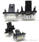 Lampe automatique de plaque minéralogique de DEL pour le numéro 6340 d'OEM de Peugeot. A3