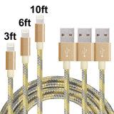 Nylon Braided молния 8 Pin к зарядному кабелю кабеля USB