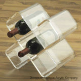 Suporte acrílico desobstruído da exposição do frasco de vinho da promoção (HY-YXA0021)