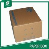 Boîte de papier ondulée de pli d'une seule pièce