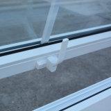 Kz327 vidrio blanco del doble de la ventana del toldo del perfil del color UPVC con red