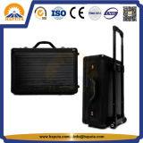 Grande cassa di alluminio nera del carrello della valigia dei bagagli (HP-3205)