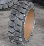 15 1/2*6*10 Presionar-en el neumático sólido, neumático sólido del amortiguador del neumático de la carretilla elevadora