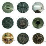 カスタム真鍮のボタン型のデニムの締める物