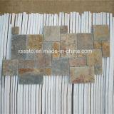 Telha rústica natural do mosaico da ardósia para a parede e o revestimento