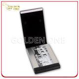 Главная неподдельная кожа с случаем визитной карточки металла
