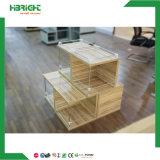 Vector de madera de la promoción del departamento del supermercado del metal