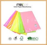 5 couleurs ont mélangé le papier d'imprimerie excentré de photo de papier-copie de couleur fluorescente