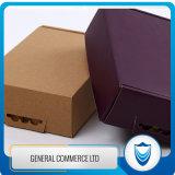 カスタムロゴの印刷を用いる平らな形の段ボール紙ボックス