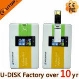 Mecanismo impulsor de la tarjeta de crédito de memoria Flash USB2.0/3.0 de la insignia de encargo promocional del regalo
