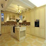 Armário de madeira da cozinha da cereja americana do estilo