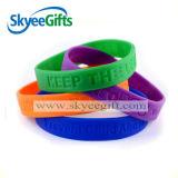 Wristband afortunado feito sob encomenda do silicone do melhor preço para a paz