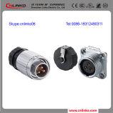 Conectador impermeable del cable de transmisión de la C.C. Male&Female del conectador de la conexión de tornillo