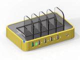 Station de charge gauche de chargeur de 5 USB avec la charge rapide 2.0 pour Multip