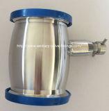 Sanitaria de acero inoxidable Tipo válvula de retención de bola soldada con drenaje