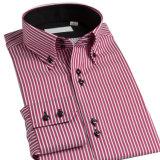 Camisa formal de la camisa de alineada de Coton de los hombres largos de la funda de la alta calidad