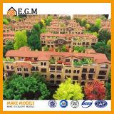 주거 건물 모형 또는 부동산 모형 또는 프로젝트 건물 모형
