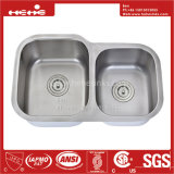 Acier inoxydable 28-3/4 x 17-3/4 sous le bassin de cuisine de cuvette de double de support