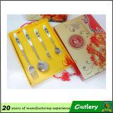 Ensemble élégant de cuillère de modèle chinois et de couverts de fourchette
