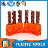 Moinho de extremidade contínuo Dia1mm-20mm do carboneto para Coppe/estaca de aço