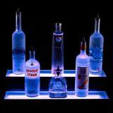 Plinth acrylique lumineux d'étalage de bouteille de vin, vente d'étalage de position