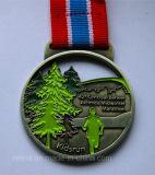 Marathon personalizado Event Sport Running Medal com Ribbon (M-10)