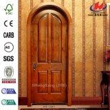 Porte en bois intérieure de luxe composée d'artisan