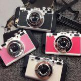 Tampa creativa do caso da parte traseira da câmera do silicone com a cinta para o iPhone 6s/6splus