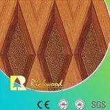 plancher résistant V-Grooved de Laminbated de l'eau de noix de texture de fibre de bois de 12.3mm