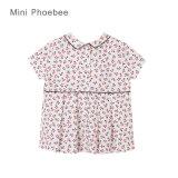 Il modo all'ingrosso di Phoebee scherza le magliette del cotone dei vestiti delle ragazze dei vestiti per l'estate