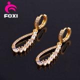 Modèles simples de boucle d'oreille d'or de la plus défunte mode en gros pour des femmes