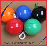 安いPE使い捨て可能な雨ポンチョの球昇進雨ポンチョのKeychainのプラスチック球