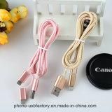 Nylon isolierte der 8 Pin-Blitz USB-Kabel mit der Aufladung und Synchronisierung